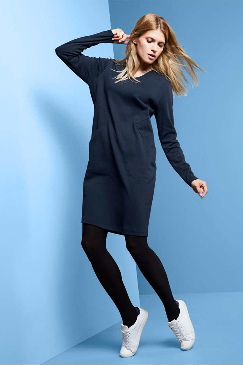 Women's Jersey Dress, Navy