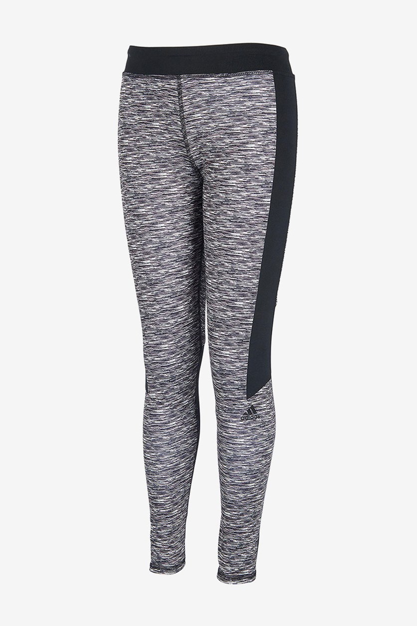 Spacedye Colorblock Leggings, Black/Grey