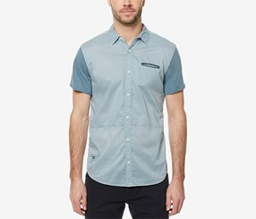 Buffalo David Bitton Men's Siminika Colorblocked Shirt, Blue