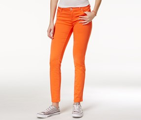 Celebrity Pink Women's Jayden Skinny Jeans, Orange