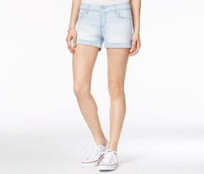 Celebrity Pink Women's Cuffed Denim Shorts, Blue