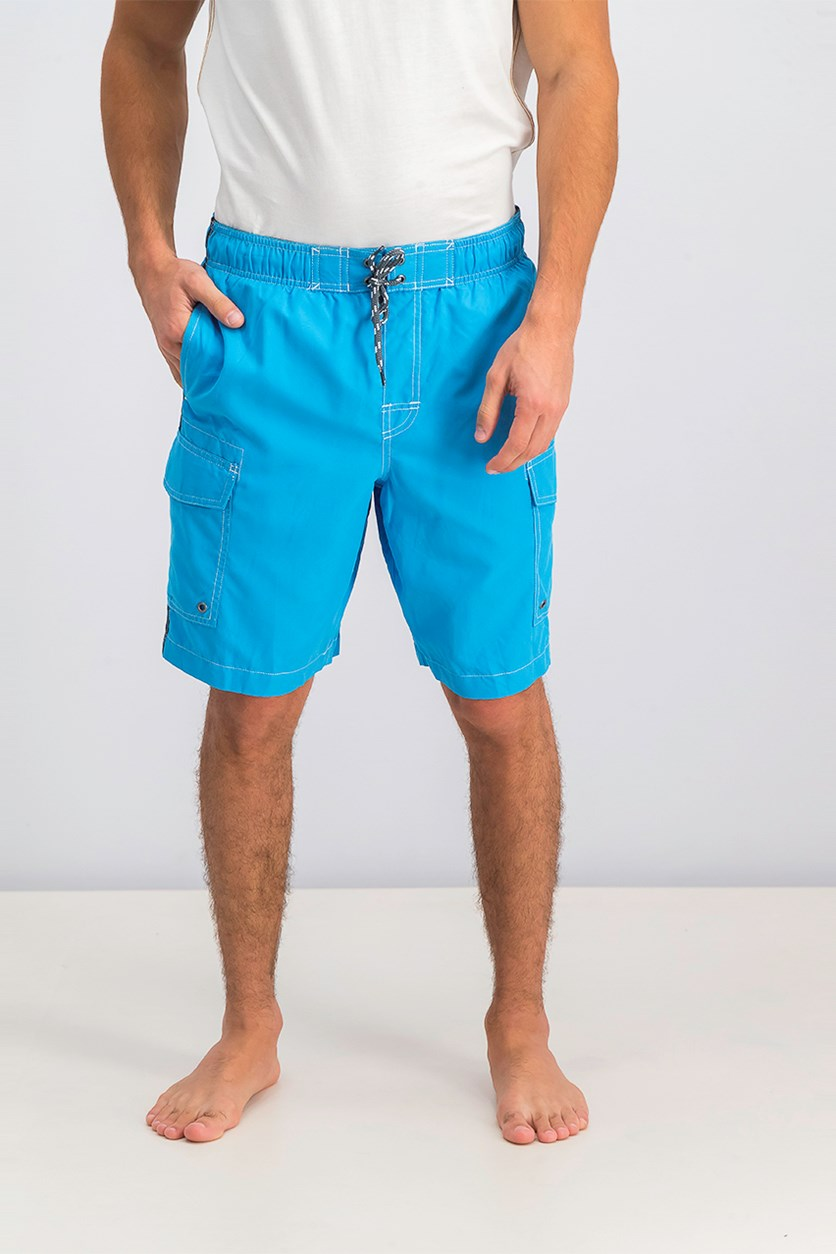 Men's Stripe Swim Trunk, Blue