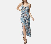 Isabella Floral Button-Down Maxi Dress, Blue Combo