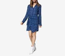 Sanctuary Ani Checkered Side-Tied Dress, Bluelife