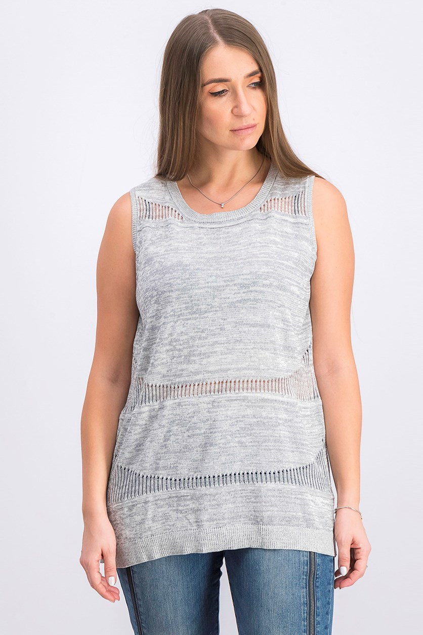 Women's Space Dye Top, Sage/Grey