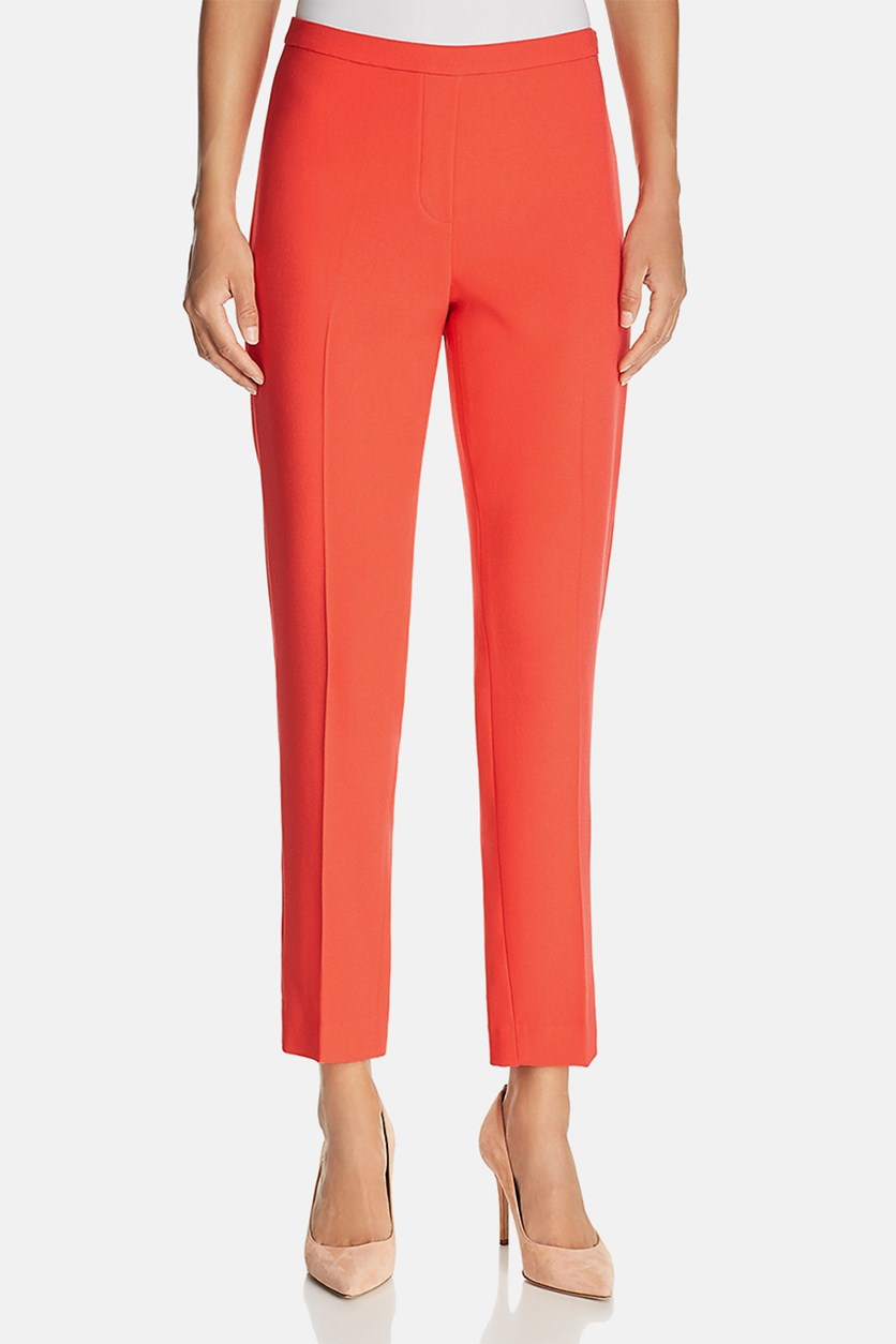 Marcia Straight Pants, Parrot Red