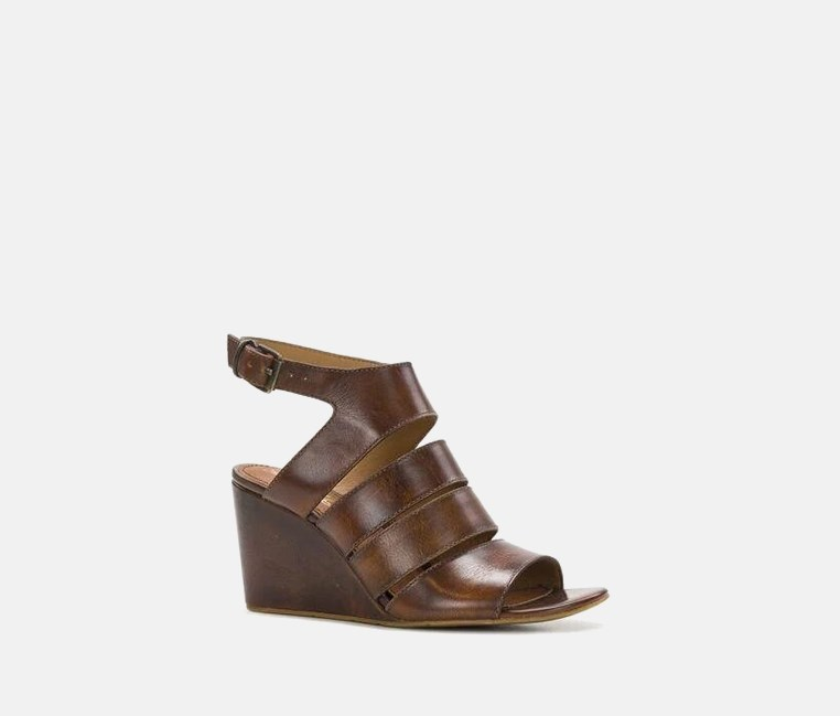 Korina Wedges Sandals, Whiskey