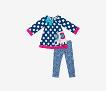 Rare Editions Baby Girls Elephant Tunic & Leggings Set, Blue