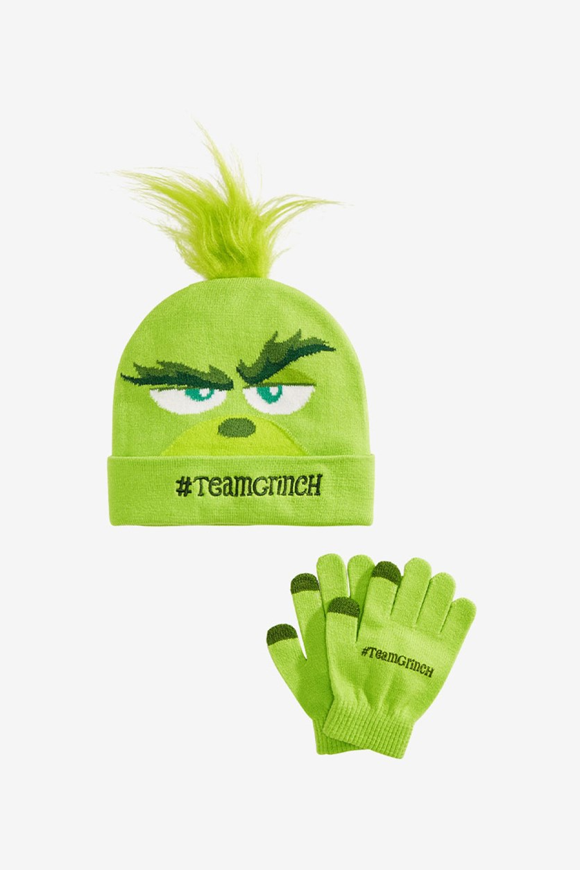 The Grinch Hat & Gloves Set, Lime Green
