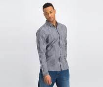 A-Frame Men's Slim Fit Check Shirt, Navy