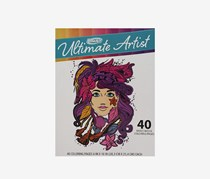 Roseart Ultimate Artist 40 Page Coloring Book, White Combo