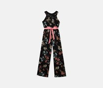 Rare Edition Big Girls All Over Print Rompers, Black