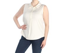 Tommy Hilfiger Women's Sheer Hi-Low Blouse, Off White