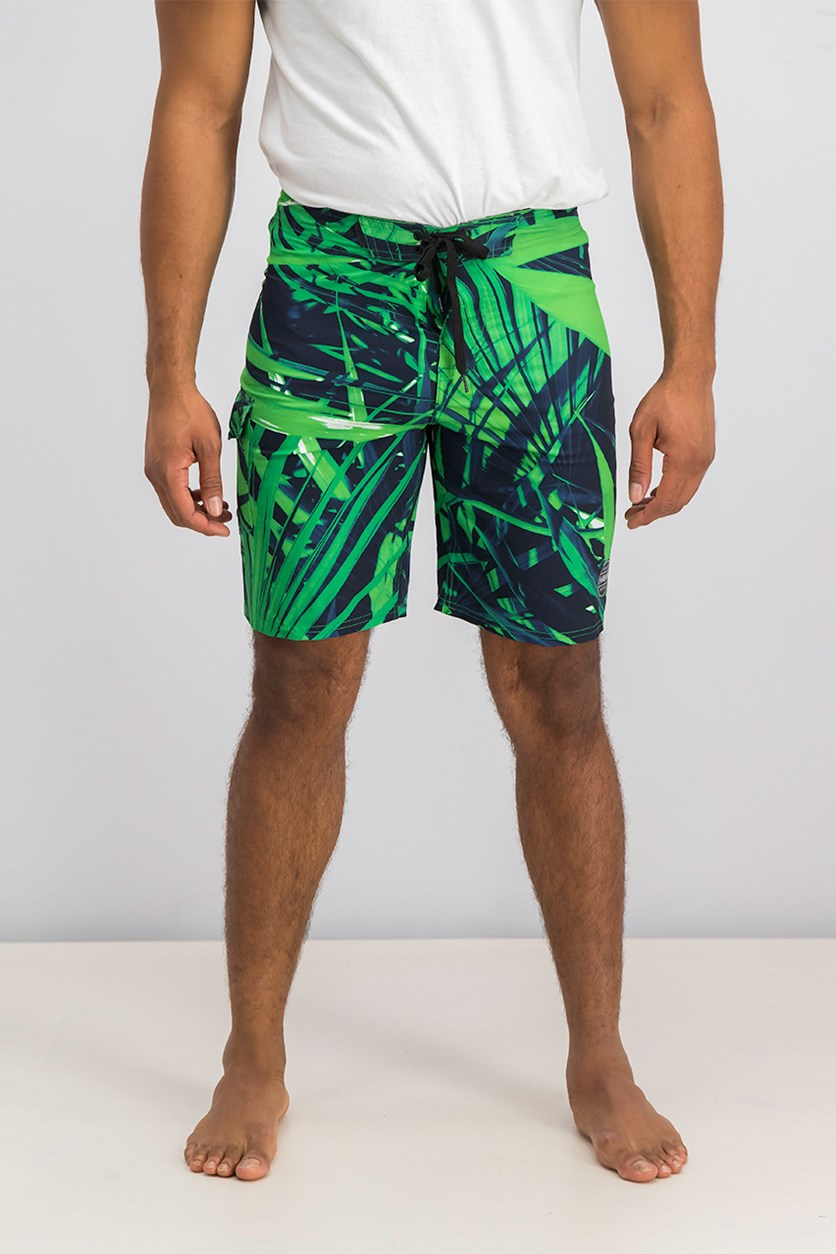 Men's Reflex Stretch Swim Shorts, Navy/Green