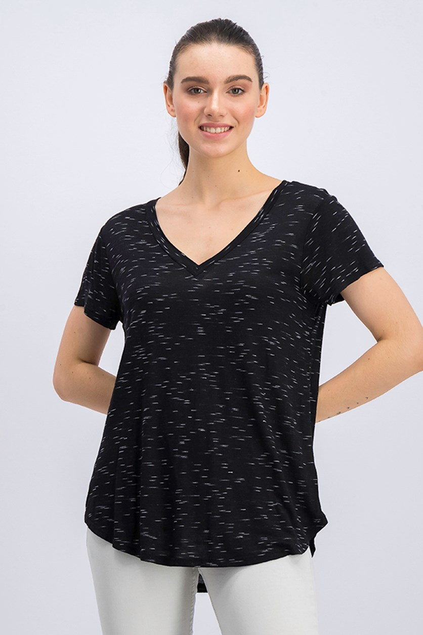 Women's Printed Tops, Black