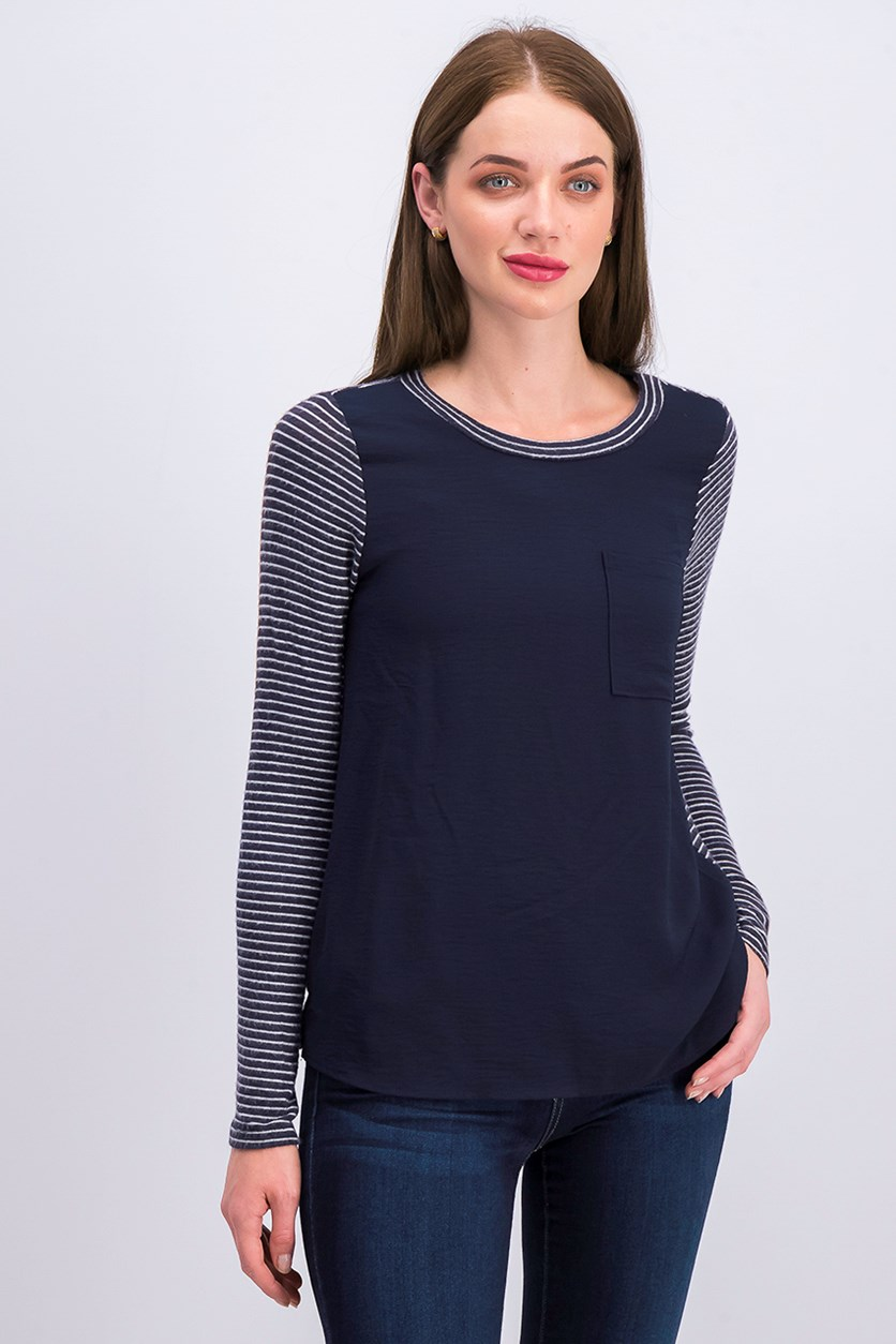 Women's Stripe Shirt, Navy