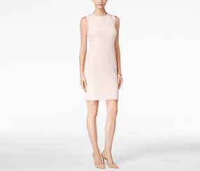 Ivanka Trump Women's Studded Sheath Dress, Pink