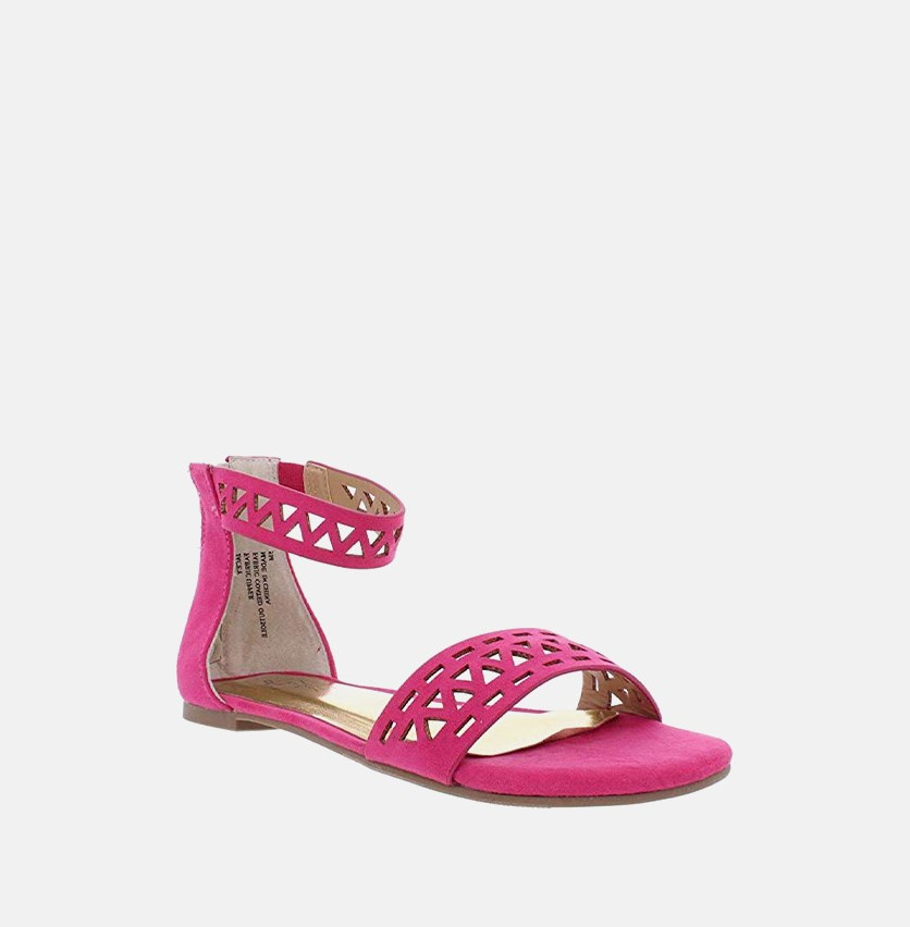 Women's Jacey Flat Sandals, Fuschia