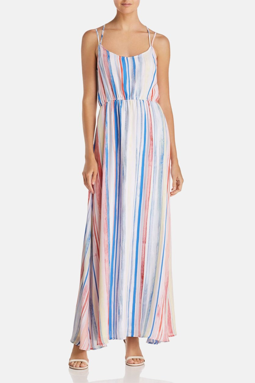 by Bb Dakota Mally Striped Maxi Dress, Cloud White Combo