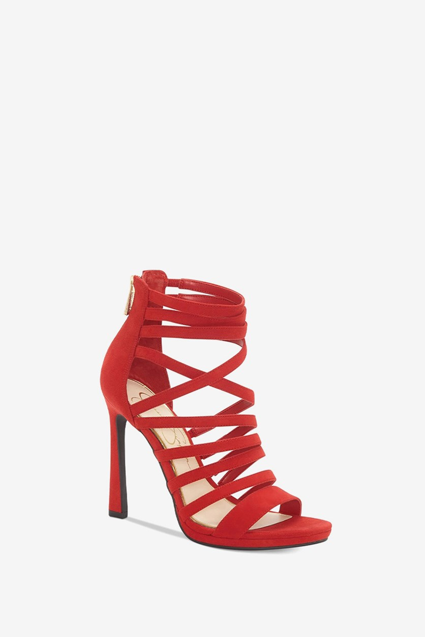 Palkaya Dress Sandals, Red Muse