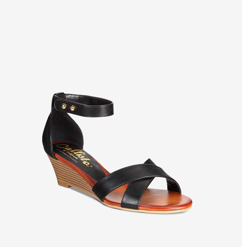 Kallie Wedge Sandals, Black