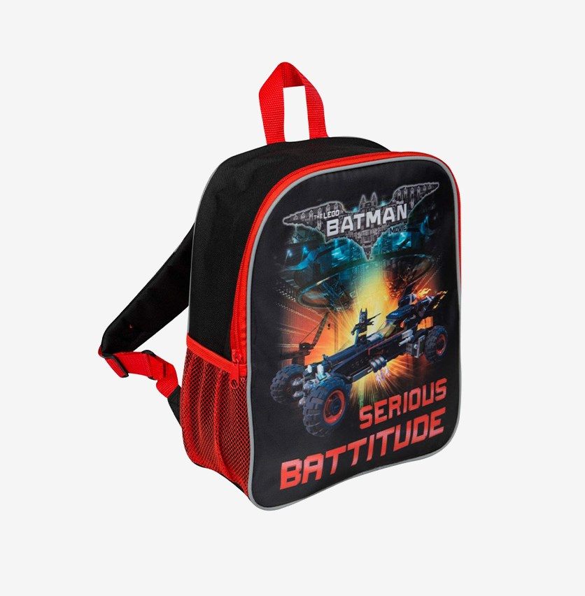 Batman Junior Backpack, Black/Red