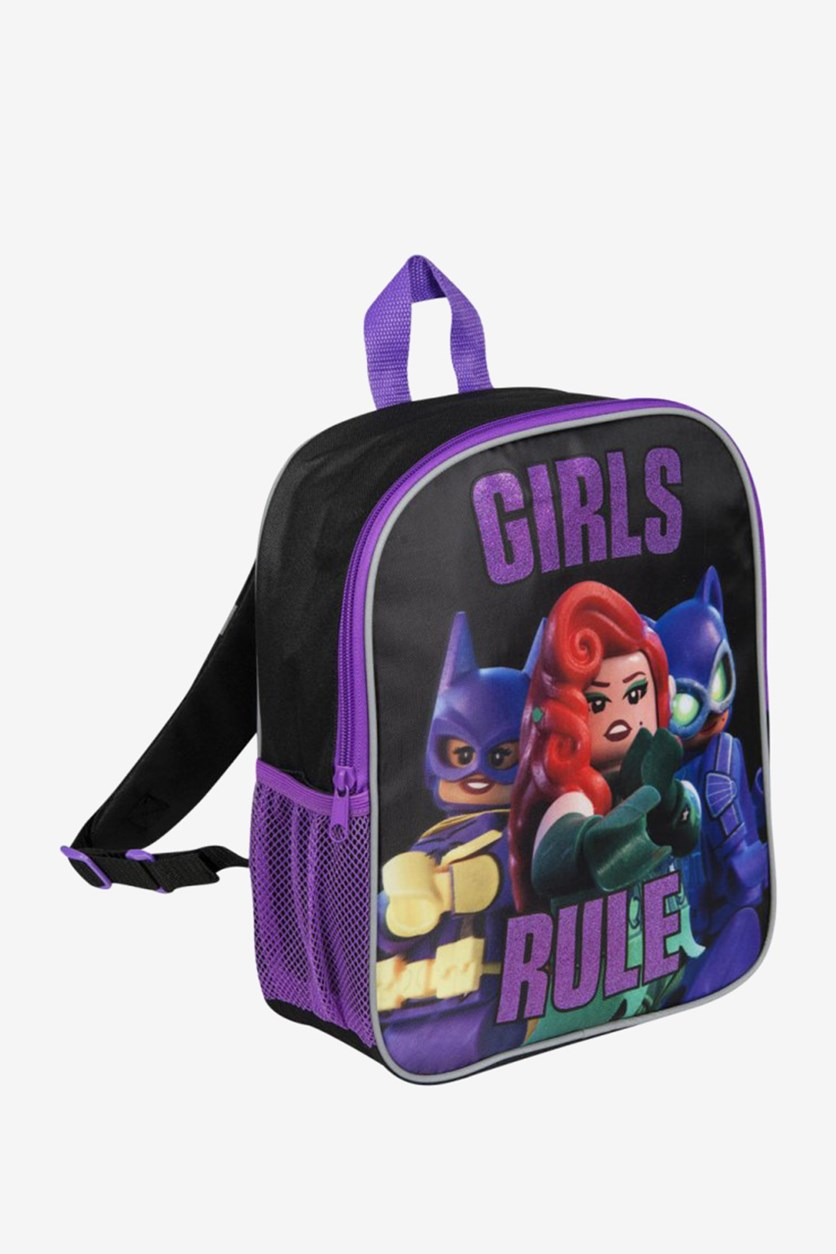Girls Rule Backpack, Black/Purple