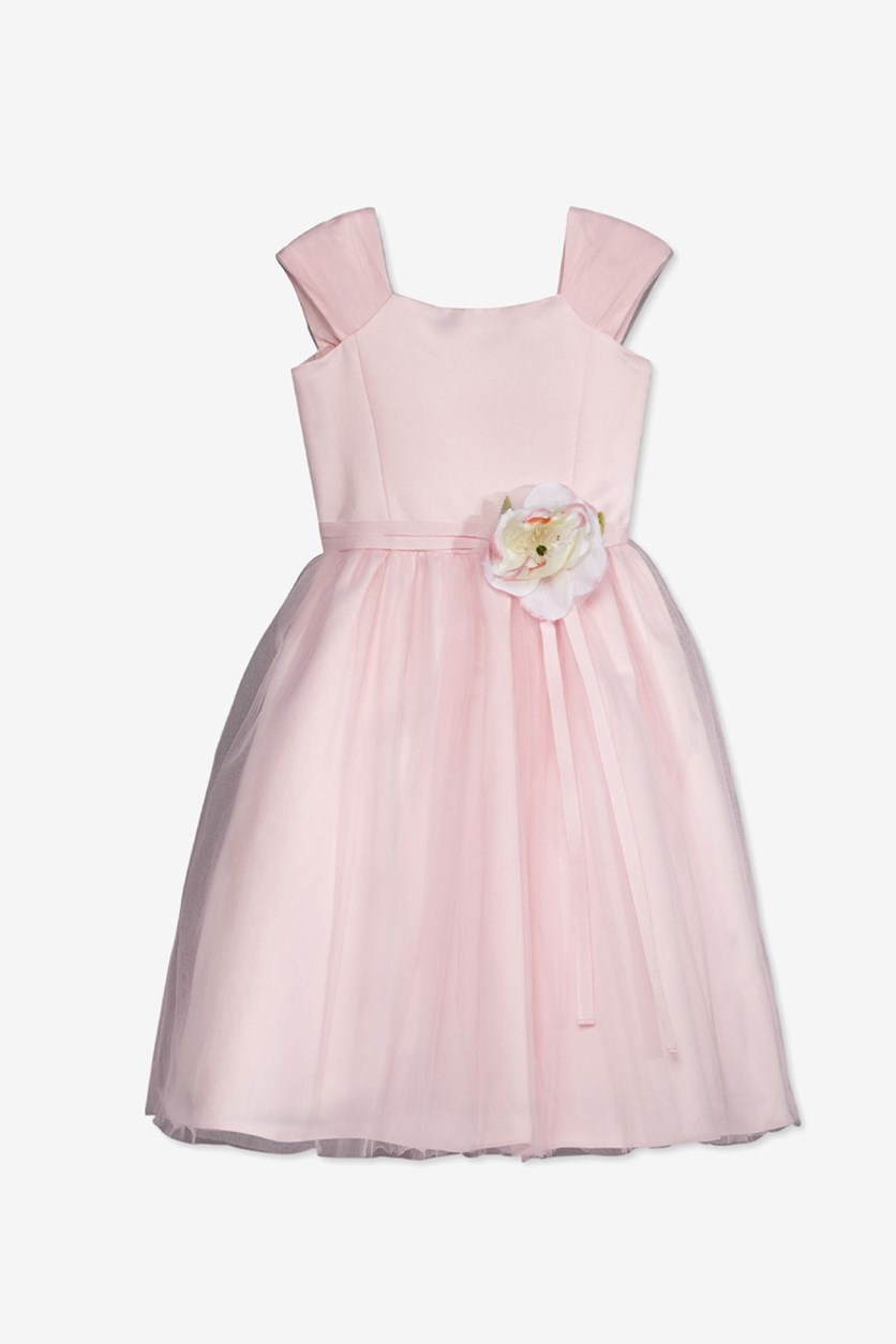by Us Angels Floral Applique Dress, Pink