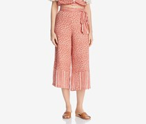 Lost + Wander Womens Suns Out Floral Cropped Culottes, Coral