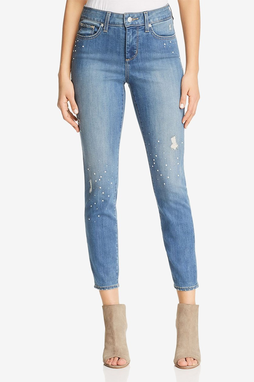 Womens Ami Embellished Skinny Ankle Jeans, Marrakesh