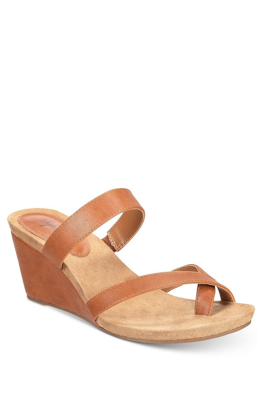 Madelaa Slip-On Wedge Sandals, Coffee