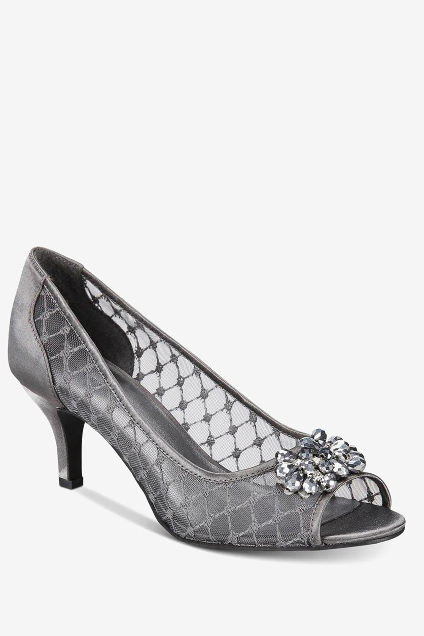 Maralyn Evening Pumps, Pewter