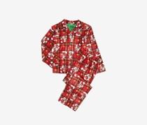 Mickey Mouse Toddler Big Boys 2-Pcs. Printed Pajama Set With Matching Sock, Red Combo