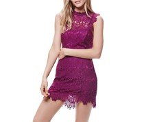 Free People Women's Daydream Bodycon Slip Dress, Purple