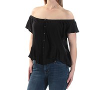 Free People Women's Mint Julep Ruffle Tee, Black