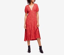 Free People Looking For Love Printed Midi Dress, Flame Combo