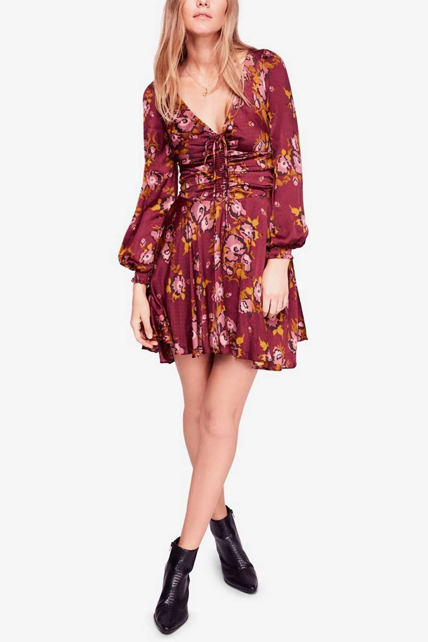 Women's Morning Light Long Sleeve Dress, Burgundy