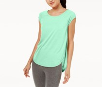 Calvin Klein Women's Performance Cap-Sleeve Open-Side Top, Green