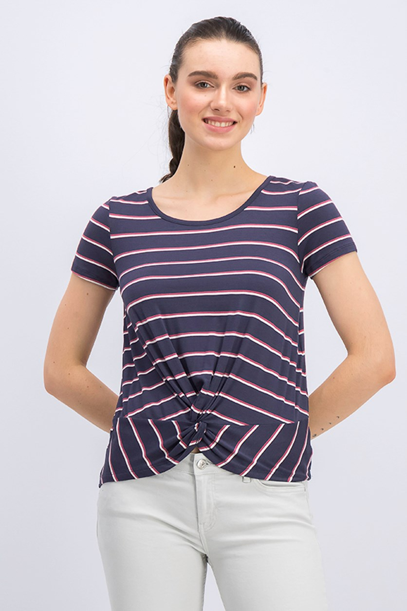 Women's Stripe Tops, Navy Combo