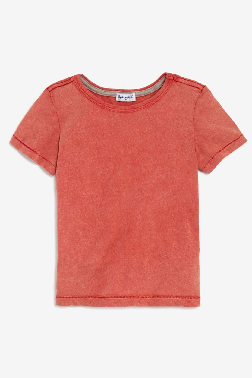 Toddler Boy's Washed Slub Jersey T-Shirt, Red Sequoia