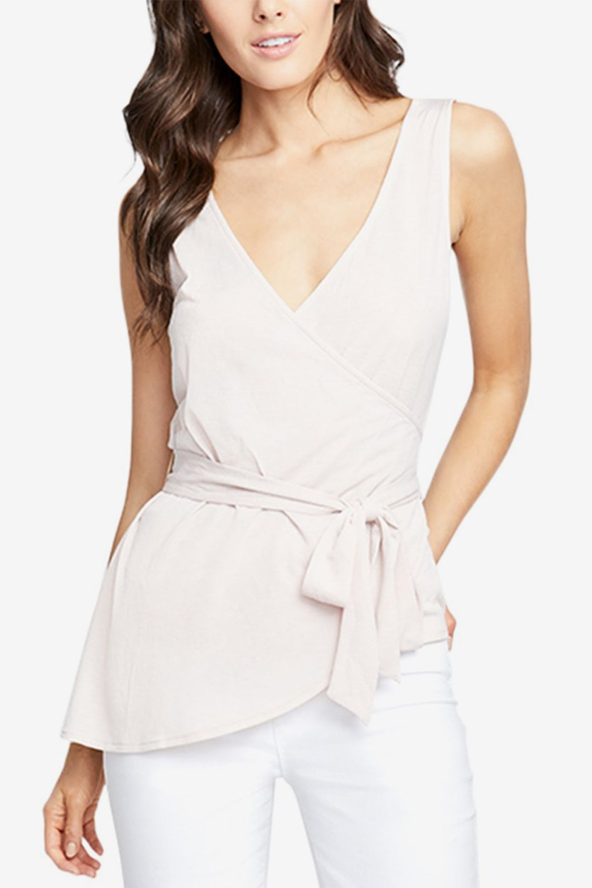 Women's Crossover Wrap Top, Blush