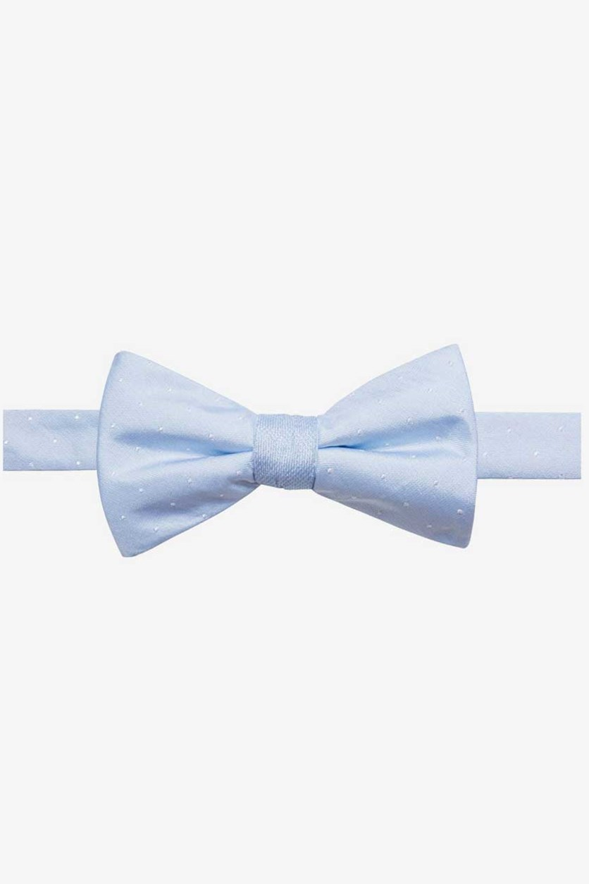 Mens Silk Polka Dot Bow Tie, Pasblue