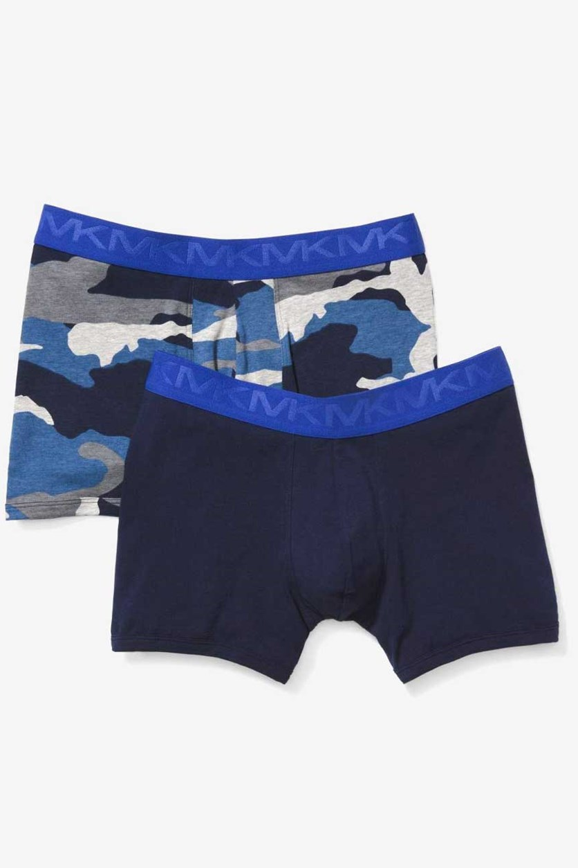 Men's Stretch Factor Boxer Briefs 2-Pack, Navy Combo
