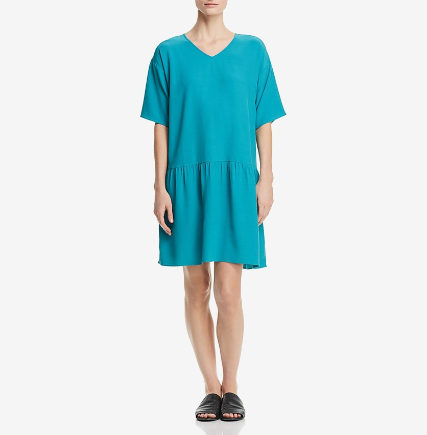 Women's Drop-Waist Dress, Aqua