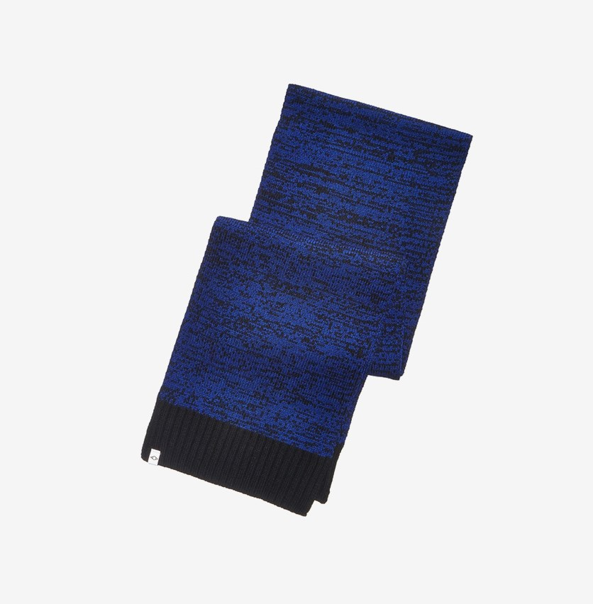 Men's Space-Dyed Scarf, Blue/Black