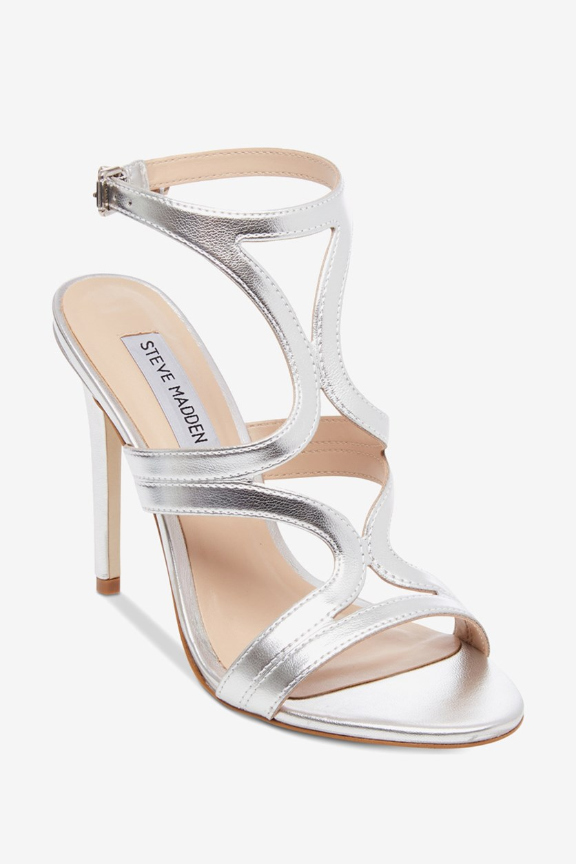 Women's Sidney Dress Sandals, Silver Leather