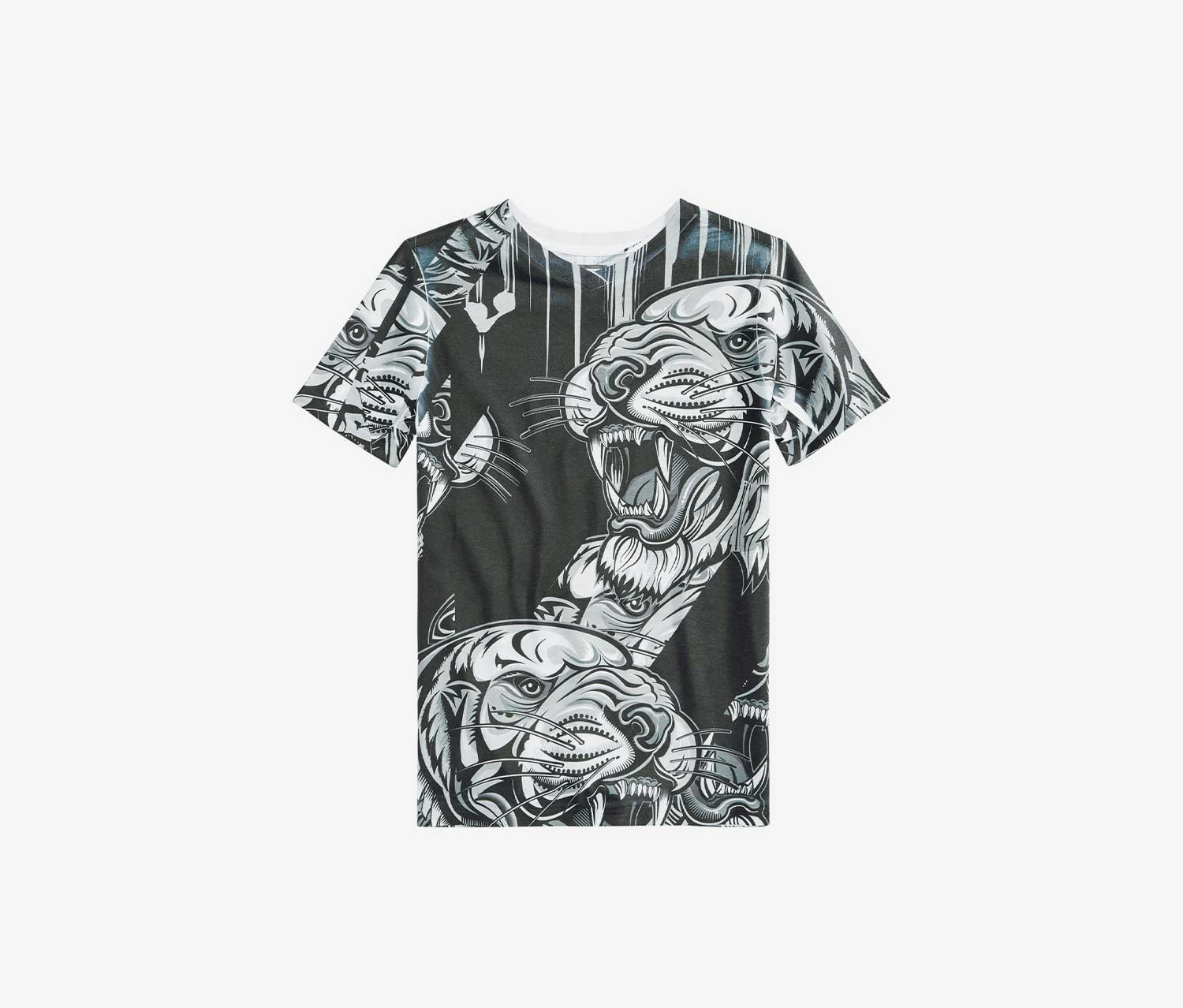 Boys Graphic-Print T-Shirt, Black Combo