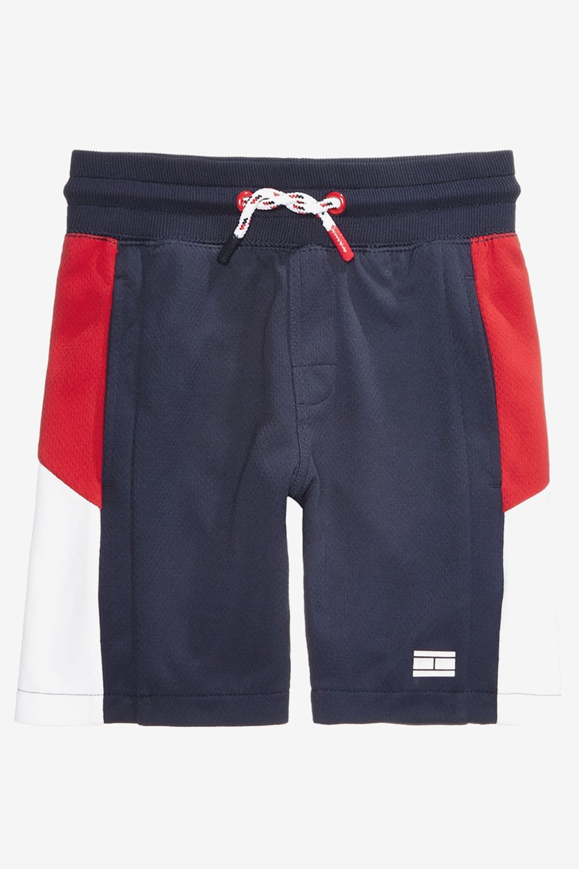 Tommy Hilfiger Boys Colorblocked Shorts, Navy Combo