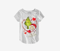 Dr. Seuss Little Girls Grinch Happy Who-lidays T-Shirt, Grey