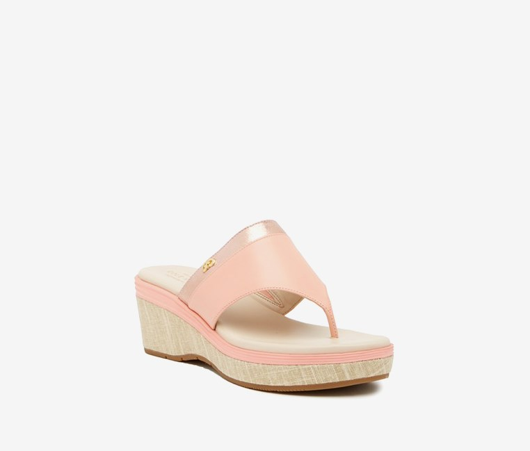 Cecily Grand Thong Sandal, Chalk/Coral Pink